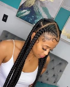 Braided Hairstyles For Black Women Cornrows, Box Braids Hairstyles For Black Women, Dope Hairstyles, Braids For Black Hair, Volleyball Hairstyles, Athletic Hairstyles, Big Twist Braids Hairstyles, African Braids Hairstyles Pictures, Lemonade Braids Hairstyles