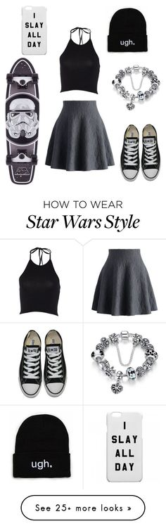 """cute skater outfit!"" by alexiswalter-1 on Polyvore featuring Chicwish and Converse"