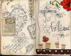 This is what my doodle pages sometimes look like; I go over the lines like fifty times, haha
