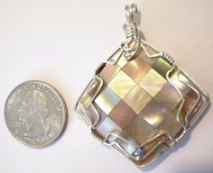 Mosiac Mother of Pearl Pendant Abalone Shell by jpatterson312, $50.00