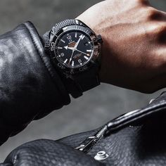 "Black on black, on black: Meet the new Omega Seamaster Planet Ocean ""Deep Black""."