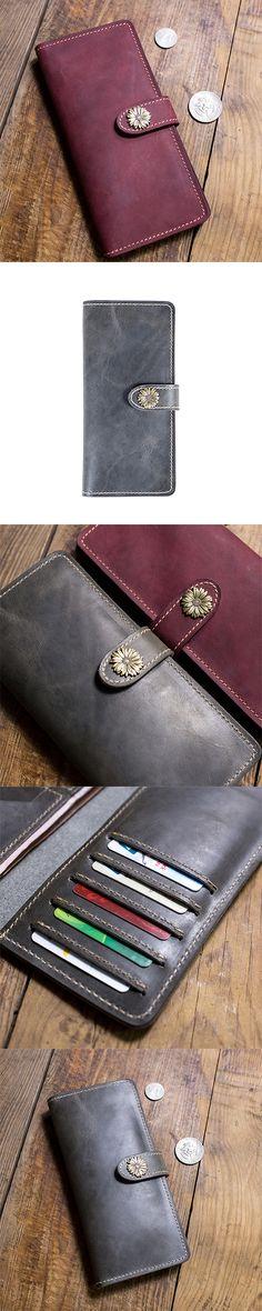 Handmade leather vintage women long wallet clutch phone purse wallet Handmade Leather Wallet, Wallets For Women Leather, Long Wallet, Leather Tooling, Clutch Wallet, Leather Fashion, Vintage Ladies, Zip Around Wallet, Coin Purse