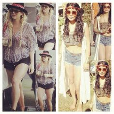 Oneteaspoon at Coachella Vanessa Hudges & Ke$ha