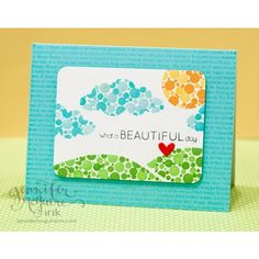 Create your own enamel dots by stamping a small circle in the ink color of your choice & topping w/ Glossy Accents.
