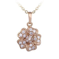 * Penny Deals * - YAZILIND Mother's Day Gift Flower Pendant Necklace 18K Gold Plated Zirconia ewelry Accessories *** Check this awesome product by going to the link at the image.