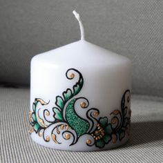 mehndi designs on candles | All About Fashion