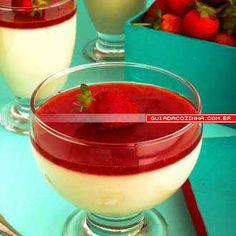 Receita de Mousse de ricota com morango