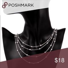 Miss Sweet Pea  totally trendy  Coolest Silver-Tone Necklace with a layering touch to it that is all it's own. 18 inches of down right cuteness, Two Available.  .Ask About Custom Bundles.  .Poshmark Rules Only. No Trades.  .Additional Pics Available as Time Allows. GoodChic Jewelry Necklaces