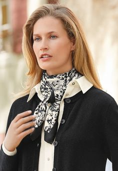 Italian silk scarf   £69   This luxurious Italian-made silk satin square is printed with a tonal abstract spot print and finished with a plain hemmed border.