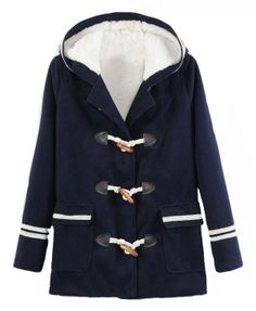 Horn Button LaLambswool Hooded Coat