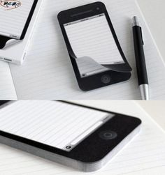 The iMemo Sticky Note Pad is a sticky pad in the shape of an iPhone 4S. 50 pieces of paper 11.5 x 6.2 x 0.7 cm Please allow 3-4 weeks for shipping.