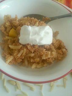 The Better Baker: Healthy Peaches 'n Cream Baked Oatmeal (Yogurt-Based)