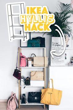 IKEA Hyllis Hack: Meine DIY Taschen-Aufbewahrung im Ankleideraum!   Who is Mocca?   Bloglovin'