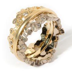#Crown #Ring - #Whitegold and #YellowGold by Mirri Damer http://www.fldesignerguides.co.uk/engagement-ring-designer/mirridamer