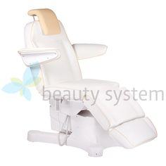 Elektryczny fotel kosmetyczny Napoli BG-207A bialy