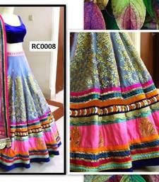 Buy multicolor embrodery work unstitched lehenga-choli Online