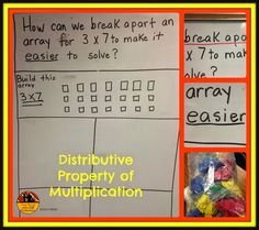 Two Boys and a Dad-Teacher blog entry on how I began teaching the Distributive Property of Multiplication.  Concrete to connecting levels.