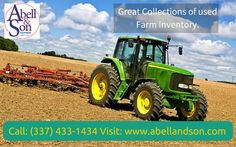 Abell & Son Inc, provide a comprehensive range of new and used multiple equipment and machinery for fulfill your farmingrequirements.   For more info call: (337) 433-1434 Visit: http://abellandson.com/