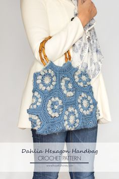 Dahlia Hexagon Handbag - Free Crochet Pattern