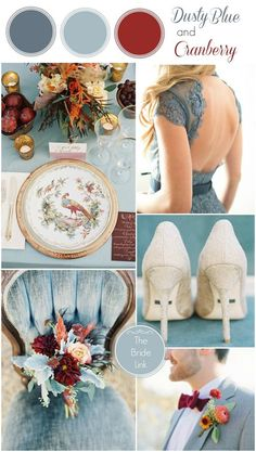 Wedding Colour Scheme {Dusty Blue and Cranberry} | http://brideclubme.com/articles/wedding-colour-scheme-dusty-blue-cranberry/