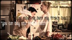 """Grey's Anatomy - Izzie: """"You made me burn my french toast."""" - George: """"You can buy new french toast!"""""""
