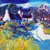 Sunlit lane, Arisaig Colorbox, Vibrant Colors, Colours, Oil On Canvas, Landscape, Gallery, Painting, Art, Art Background