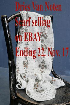 Un-worn designer scarf by Dries Van Noten currently selling on EBAY ending 22 November 2017