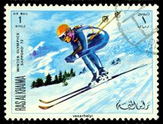 Vintage--postage-stamp.-Olympic-games