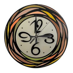 Colorful Stain Glass Pattern - Wall Clock