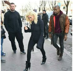 Kim kardashian west, kanye west and their bodyguard pascal out in paris for fashion week Macedonian Language, Bodyguard Services, Speak Fluent English, Close Protection, Kanye West, Kim Kardashian, Bomber Jacket, Winter Jackets, Sporty