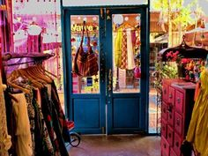 Chaaba in Thailand... we love the door and pink chest of drawers