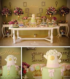 So cute baby shower - good ideas by Ju Françoso from Happy Happenings  Flowers, cups..