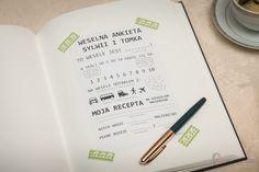 ankieta weselna w księdze gości niemarysia.wordpress.com Notebook, Bullet Journal, Personalized Items, Wordpress, Diy, Wedding, Valentines Day Weddings, Bricolage, Do It Yourself