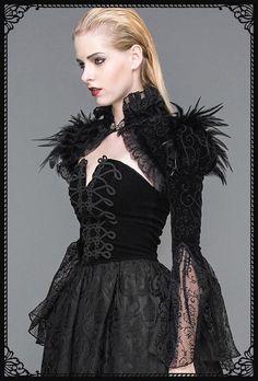 Devil Fashion Cassiopeia Velvet Shrug Bolero