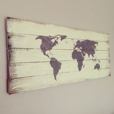 Repurposed Barn or Pallet Wood World Sign Off White by 1920Shoppe