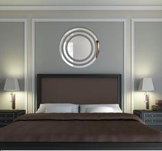 Bezpečné nalepovací kruhové zrcadla Bathroom Lighting, Art Deco, Mirror, Furniture, Design, Home Decor, Bathroom Light Fittings, Bathroom Vanity Lighting, Decoration Home