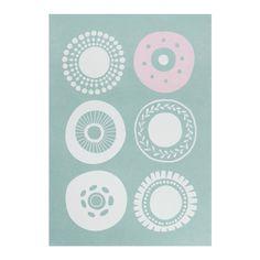 Greeting Card Blomma: Circles