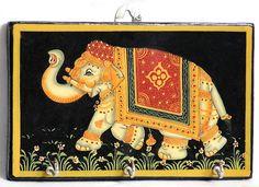 Creative Wedding Invitations, Custom Invitations, Wedding Stationery, Vintage Elephant, Elephant Art, Phad Painting, Madhubani Painting, Animal Paintings, Needlework