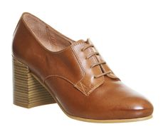 Buy Tan Leather Office Quo Lace Up Block Heels from OFFICE.co.uk.