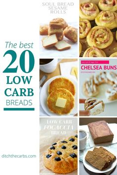 These are the best low carb breads on the internet. There are low carb breads, tortillas, muffins, 3 ingredients recipes and even sweet breads. | ditchthecarbs.com via @ditchthecarbs