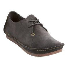 The Janey Mae Lace Up Shoe by Clarks brings together sophistication and comfort. Its neatly hand sewn look gives it effortless style. TPR outsole Clarks Plus technology Synthetic/suede lining Suede so