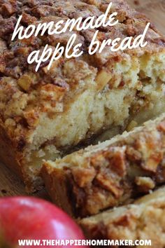 Cinnamon Bread This is the best cinnamon apple bread recipe I've ever tried!This is the best cinnamon apple bread recipe I've ever tried! Just Desserts, Delicious Desserts, Yummy Food, Desserts With Apples, German Desserts, Fall Recipes, Sweet Recipes, Recipes Dinner, Autumn Bread Recipes