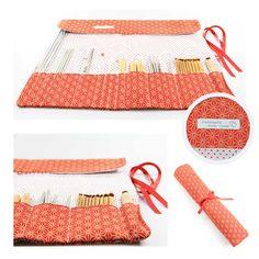 Anleitung - Stricknadeltasche nähen. In einer Stricknadeltasche sind alle Strick- und Häkelnadeln schön aufgeräumt. Weiterer Vorteil: sie lassen sich leicht transportieren.