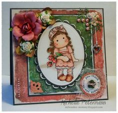 Cuttest Peach Magnolia Card
