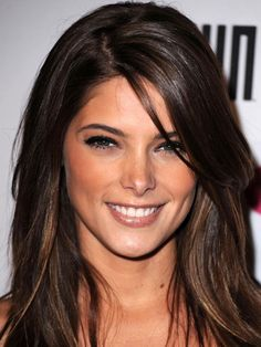 Ashley Greene long, side-swept bangs: http://beautyeditor.ca/2014/07/04/best-bangs-for-diamond-face-shape/