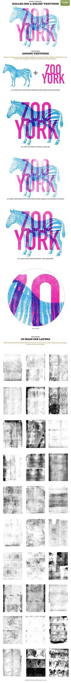 Rock & Roller Letterpress Ink Kit by It's me simon on @creativemarket