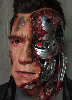 Arnold Schwarzenegger T850 Terminator 1 1 DIY Battle Damage Handmade Bust | eBay