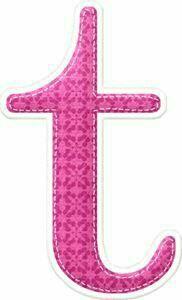 Letter T, Name Design, Alphabet And Numbers, Symbols, Scrapbook, Pink, Fabrics, Alphabet, Tejidos