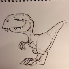 Another #dinosaur #trex #tyrannosaur #theropod #brushpen #breaksketch #cartoon
