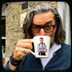 """""""Time for my morning cup of narcissism"""" - Timothy Omundson Twitter"""
